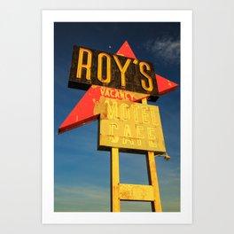 Roy's Vacancy Art Print