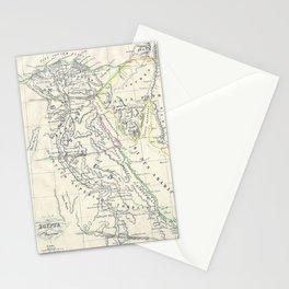 Vintage Map of Egypt (1837) Stationery Cards