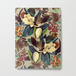 FLORAL AND BIRDS XXI-II Metal Print
