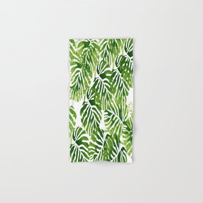 Tropical Leaves - Green Hand & Bath Towel