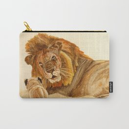 Lion Watercolor Carry-All Pouch