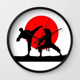 Karate Japan Wall Clock