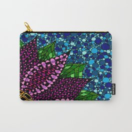 Stained Glass Flower Carry-All Pouch