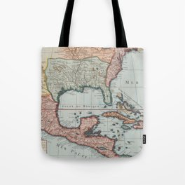 Vintage Map of The Gulf of Mexico (1732) Tote Bag