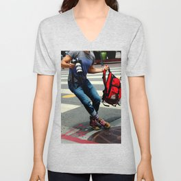 A Travelin' Man Unisex V-Neck
