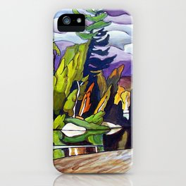 AJ's Little Island by Amanda Martinson iPhone Case