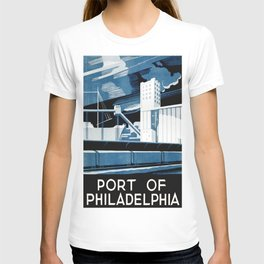 Vintage poster - Port of Philadelphia T-shirt