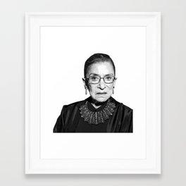 Ruth Bader Ginsburg Dissent Collar RBG Framed Art Print