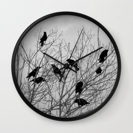 Murder Of Crows - Two Wall Clock