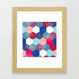 Hexies Framed Art Print