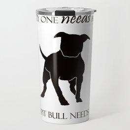 Love is a pit bull No. 8 Travel Mug