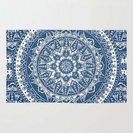 Blue Mandala Pattern Rug