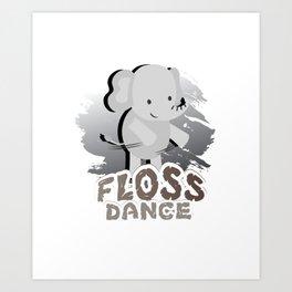 Floss Dance Move Elephant Art Print