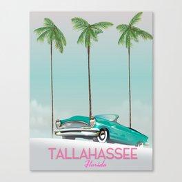 Tallahassee Florida travel poster, Canvas Print