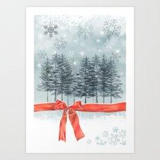 wintertrees Art Print