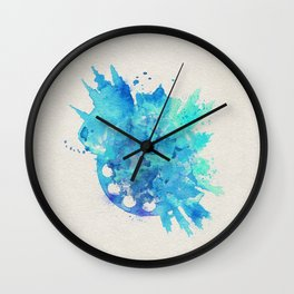 Prague, Czech Republic Colorful Skyround / Skyline Watercolor Painting Wall Clock