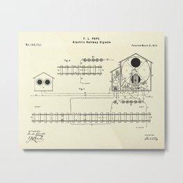 Electric Railway Signals-1874 Metal Print