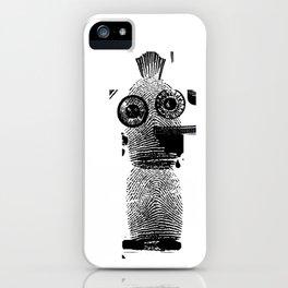 Big eyed Ink dude iPhone Case