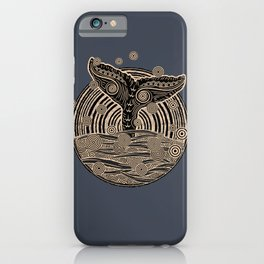 Vintage Tribal Whales iPhone Case