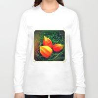 lanterns Long Sleeve T-shirts featuring Lovely Lanterns  by Julia Kovtunyak
