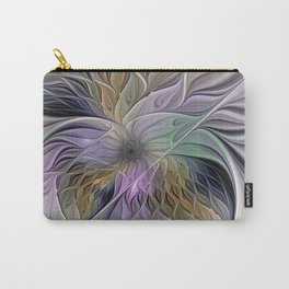 Abstract Flower, Colorful Floral Fractal Art Carry-All Pouch
