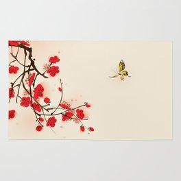 Oriental plum blossom in spring 011 Rug