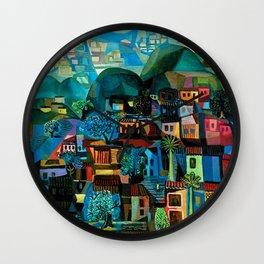 Favela Hillside, Rio de Janeiro by Emiliano di Cavalcanti Wall Clock