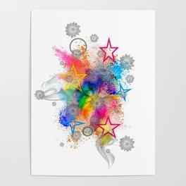 Color blobs by Nico Bielow Poster