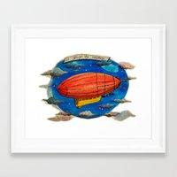 led zeppelin Framed Art Prints featuring Zeppelin by sugu