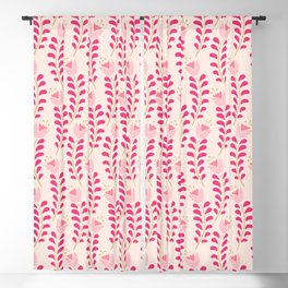 Spring flower pattern in pastel pink color palette Blackout Curtain