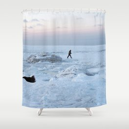 Out on the Ice Shower Curtain