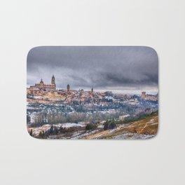 Segovia in Spain snowed in winter. Bath Mat