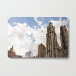 Over New York City Metal Print