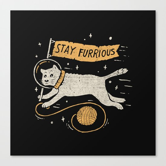 Stay Furrious Canvas Print