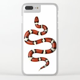 Kundalini red snake on white Clear iPhone Case
