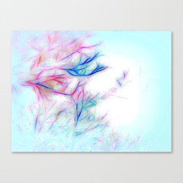 Tree Branch Abstract In Color Canvas Print