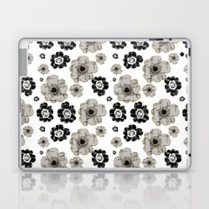 Black and White Floral Pattern Laptop & iPad Skin