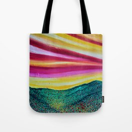 SPRING IS COMING - Abstract Sky - Landscape Oil Painting Tote Bag