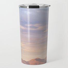 Sunset over Saddleback Mountain Travel Mug