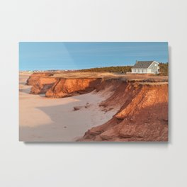 Thunder Cove Beach Cliffs Metal Print