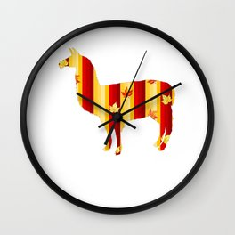 Autumn Lama Wall Clock