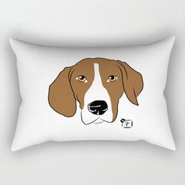 Hound Dog Face Rectangular Pillow