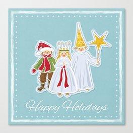 Happy Holidays says Saint Lucia Canvas Print