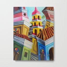 Remedios, Cuban town. Miguez Art Metal Print