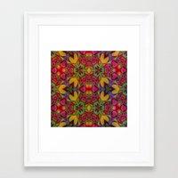 escher Framed Art Prints featuring Escher Tile by RingWaveArt