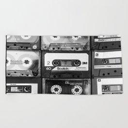 Something Nostalgic - black and white #decor #buyart #society6 Beach Towel