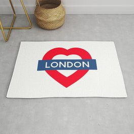 London Underground - Heart Rug