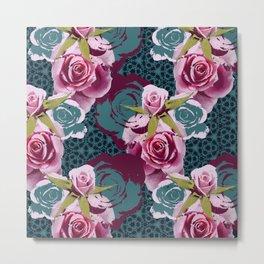 Modern Baroque Rose Metal Print