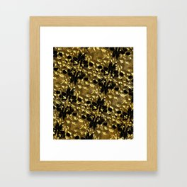 golden skulls Framed Art Print