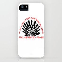 Prevent Bullying- A VermontGreetings Illustration iPhone Case